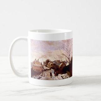 Neige een Lagere Norwood door Camille Pissarro Koffiemok