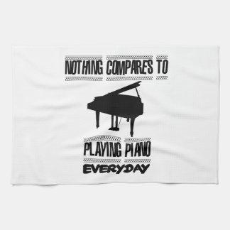 Neigend de spelerdesign van de Piano Theedoek