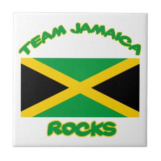Neigend Jamaicaans DESIGN Tegeltje Vierkant Small