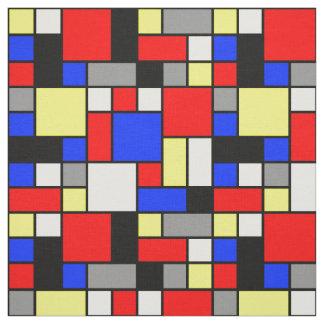 Neo Blauwe Rode Gele Witte Grijze Blokken Stof