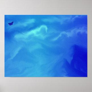 neon blauwe dromen poster