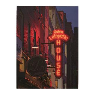 Neon Laff - het Houten Art. van de Muur Hout Afdruk