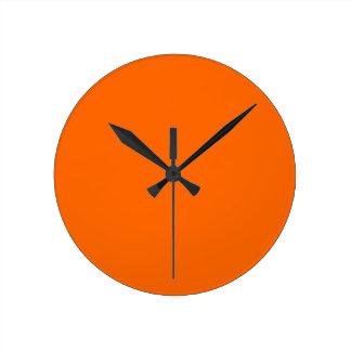 neon oranje stevige kleur ronde klok