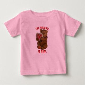Nestel me is Echt dragen en Hart Baby T Shirts