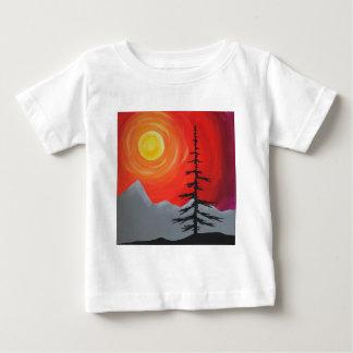 Nette Zonsondergang Baby T Shirts