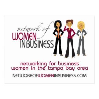 Netwerk van Vrouwen in BedrijfsBriefkaart Briefkaart