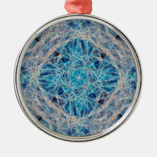 Neuraal Netwerk Zilverkleurig Rond Ornament