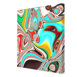 Neurale Abstractie die op Canvas wordt gedrukt
