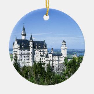Neuschwanstein Rond Keramisch Ornament
