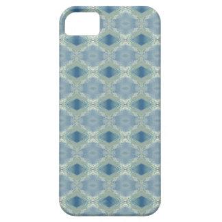 Neutrale Schaduwen van Blauw Grijs Patroon Barely There iPhone 5 Hoesje