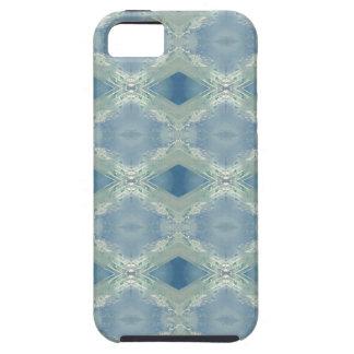 Neutrale Schaduwen van Blauw Grijs Patroon Tough iPhone 5 Hoesje