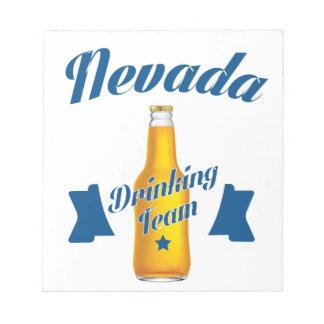 Nevada dat team drink notitieblokken
