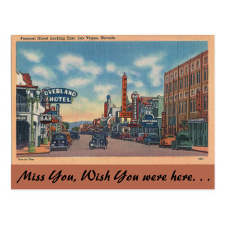 Nevada, Fremont Straat, Las Vegas Briefkaart