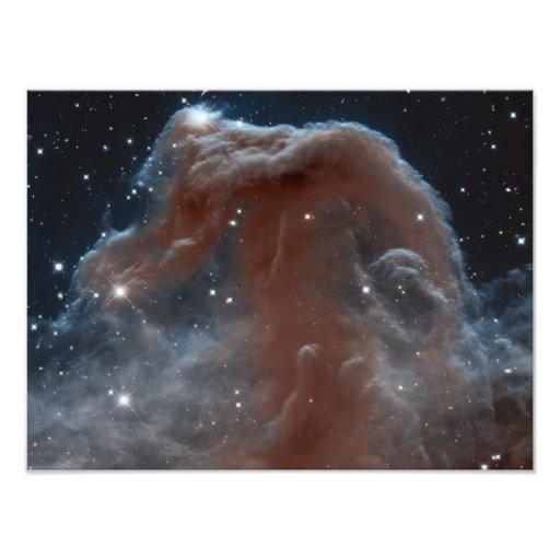 Nevel in vorm van Horsehead in Roze Foto