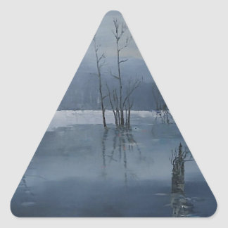 Nevelig water driehoekvormige stickers