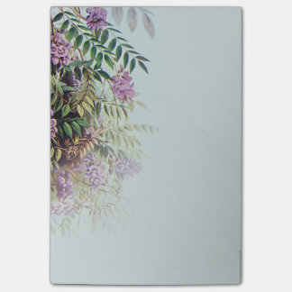 Nevelige Paarse Wisteria op Lichtblauw - Post-it® Notes