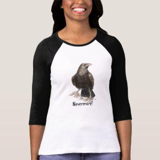 Nevermore, Edgar Allen Poe Raven, Waterverf T Shirt