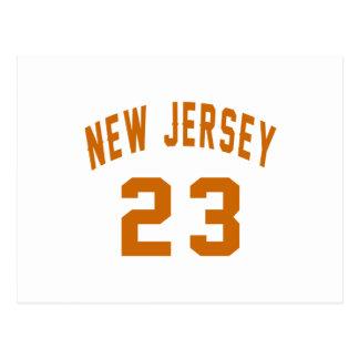 New Jersey 23 Design van de Verjaardag Briefkaart