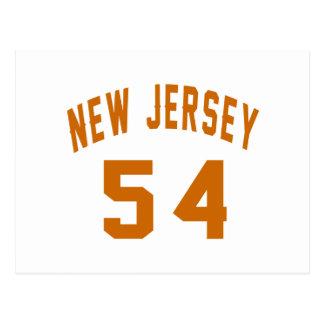 New Jersey 54 Design van de Verjaardag Briefkaart