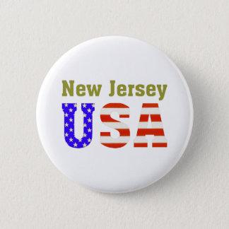 New Jersey de V.S.! Ronde Button 5,7 Cm