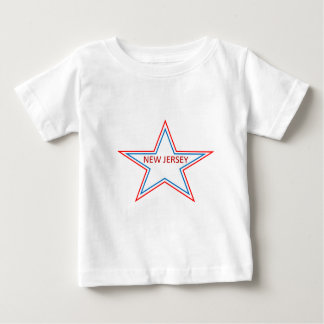 New Jersey in een ster Baby T-shirt