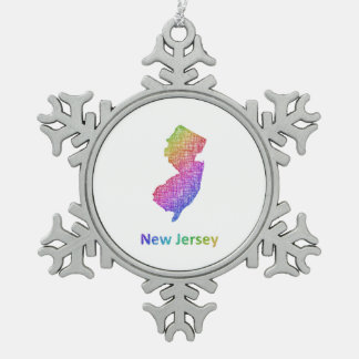 New Jersey Tin Sneeuwvlok Ornament