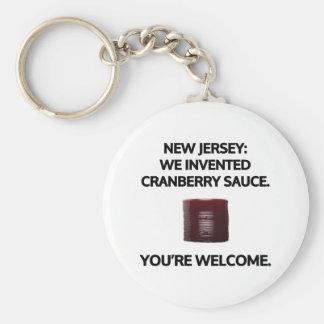 New Jersey: Wij vonden Amerikaanse veenbessaus uit Basic Ronde Button Sleutelhanger