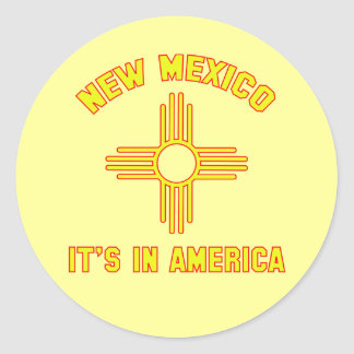 New Mexico - het is in Amerika Ronde Sticker
