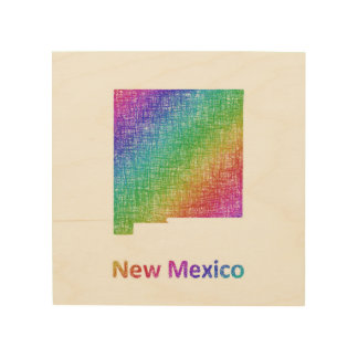 New Mexico Hout Afdruk