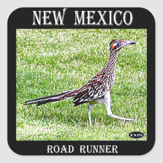 New Mexico Roadrunner Vierkante Stickers