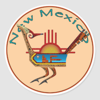 New Mexico Ronde Sticker