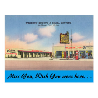 New Mexico, Westerne Hof, Lordsburg Briefkaart