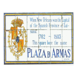 New Orleans French Quarter Plaza D'Armas Sign