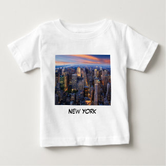 New York bij Nacht Baby T-shirt