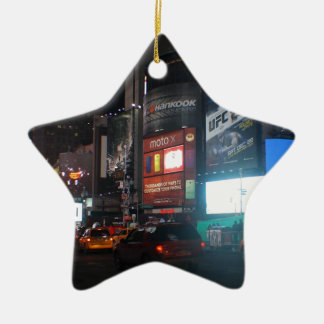 New York Broadway at night Keramisch Ster Ornament