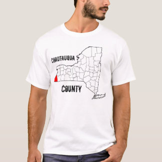 New York: De Provincie van Chautauqua T Shirt