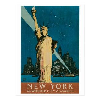 New York: De Wonder Stad van het Poster van de Briefkaart