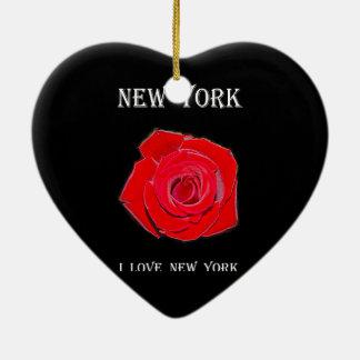 New York I Liefde New York nam toe Keramisch Hart Ornament