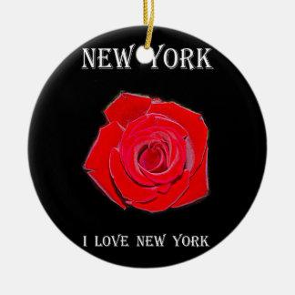 New York I Liefde New York Rond Keramisch Ornament