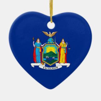 New York Keramisch Hart Ornament