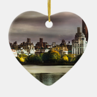 New York Keramisch Hart Ornament