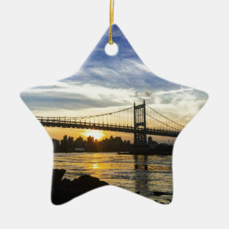 New York Keramisch Ster Ornament