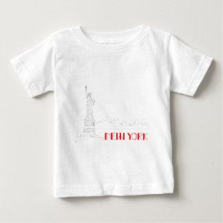 New York, Koele standbeeld-van-Vrijheid Baby T Shirts