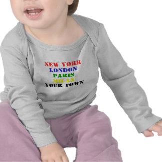New York, Londen, Parijs, Milaan, Uw stadst-shirt