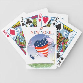New York luide en trotse, tony fernandes Bicycle Speelkaarten