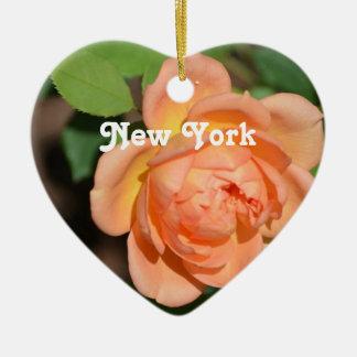 New York nam toe Keramisch Hart Ornament