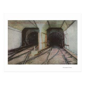 New York, NY - de Tunnel van de Rivier Hudson, Briefkaart