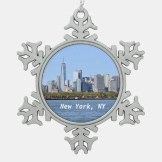 New York, NY het Ornament van de Sneeuwvlok