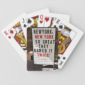 New York, NY New York de Speelkaarten van het