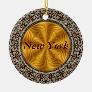 New York Rond Keramisch Ornament